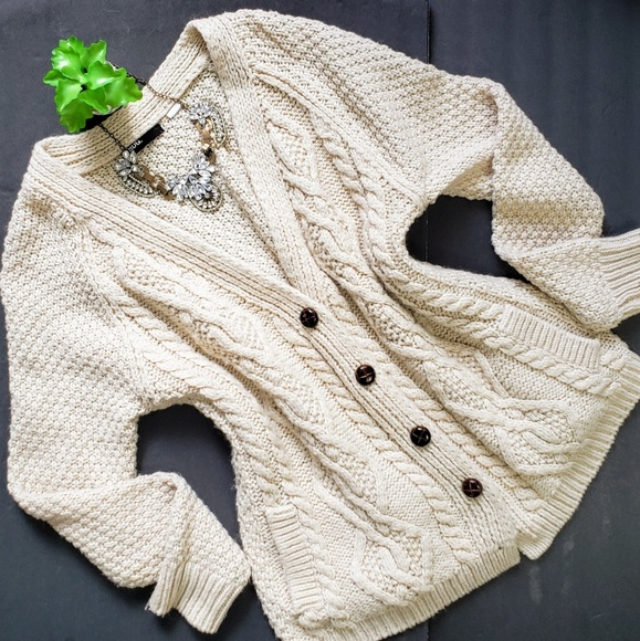 BDG Sweaters - UO BDG Chunky Cable Knit Slouchy Grandpa Cardigan